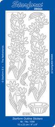 Starform stickervel bloemen zilver nr. 1098 (Locatie: U012 )
