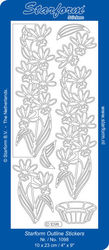 Starform stickervel goud bloemen nr. 1098 (Locatie: U026 )