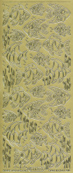 Starform stickervel goud vissen 1176 (Locatie: e095)