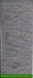 Starform stickervel zilver Hurra ich bin da 412 (Locatie: T007 )