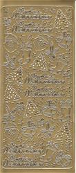 Sticker goud frohe weinachten 1103 (Locatie: B268)