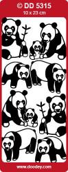 Sticker goud panda DD5315 (Locatie: NN131)