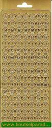 Stickervel alfabet goud 1904 (Locatie: U258 )