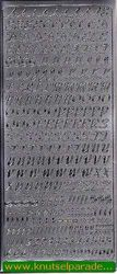 Stickervel alfabet zilver 1860 (Locatie: ZZ084 )