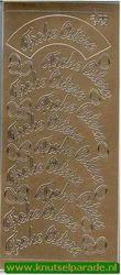 Stickervel Frohe Ostern goud DD3754 (Locatie: G106)