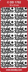 Stickervel kerstmis goud DD1702 (Locatie: A017)