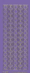 Stickervel paars/goud 3021 (Locatie: K158)