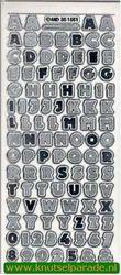 Stickervel transparant zilver MD351551 (Locatie: C020 )