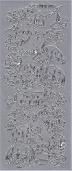 Stickervel zilver dino's DD5105 (Locatie: A221)