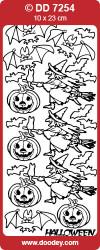 Stickervel zilver Halloween DD7254 (Locatie: F055)