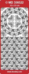 Stickervel zilver randjes MD356522 (Locatie: ZZ126)