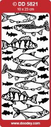 Stickervel zilver vissen DD5821 (Locatie: C007)