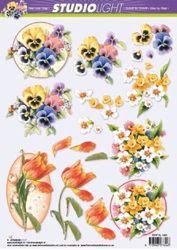 Studio Light knipvel bloemen STAP SL 1020 (Locatie: 2558)