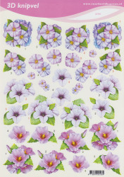 Voorbeeldkaarten knipvel bloemen 2193 (Locatie: 4314)