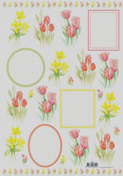 Voorbeeldkaarten knipvel bloemen 8919 (Locatie: 2223)