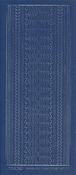 Voorbeeldkaarten stickervel rand donkerblauw 3029 (Locatie: u205)