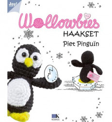 Wollowbies haakset - Piet Pinguïn