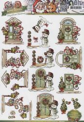 Yvonne Creation's knipvel kerst CD10401 (Locatie: 4807)