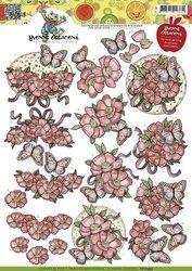 Yvonne creation's knipvel opkikker Vlinders CD10493 (Locatie: 4431)
