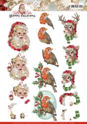 Yvonne Creations knipvel kitschy Christmas CD11392 (Locatie: 2453)