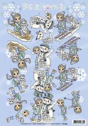 Yvonne Creations knipvel Puk en Floortje winter CD10999 (Locatie: 5557)