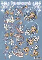 Yvonne Creations knipvel Puk & Floortje Winter CD11052 (Locatie: 0608)