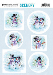 Yvonne Creations stansvel winter CDS10016 (Locatie: 1550)