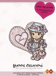 Yvonne Creations clear stamp Love coll. Girl CDST10015 (Locatie: NN266 )