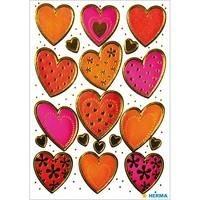 Herma stickers harten goud preeg 2 vel 3618 (Locatie: HE008)
