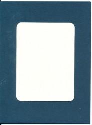 Donkerblauwe dubbele kaart met beige oplegkaart en witte envelop 4 stuks (Locatie: BB018)