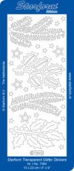 Starform sticker glitter zilver / goud 7084 (Locatie: J536)