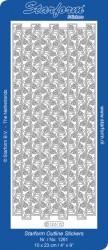 Starform sticker zilver randje 1261 (Locatie: A242)