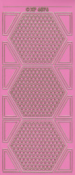 Stickervel roze/goud XP6876 (Locatie: K096)