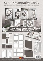 Doodey kaartenpakket 3D Sympathy Cards om 6 kaarten te maken ZV90673 (Locatie: 1612)