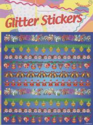 Abstracta glitter stickers kerstmis (Locatie: 1310)