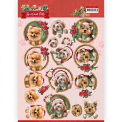 Amy Design knipvel kerstmis hondjes CD11529 (Locatie: 0345)