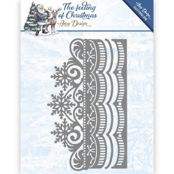 Amy Design snijmal The feeling of Christmas - Ice Crystal Border ADD10111 (Locatie: M047)