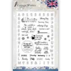 Amy Design text stamp Vintage Winter ADCS10023 (Locatie: i534)