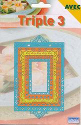 Avec snij- embos- borduurmal Triple 3 4054402 (Locatie: J182)