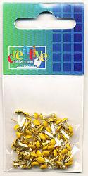 Brads rond geel 50 stuks 10829/12 (Locatie: K2)