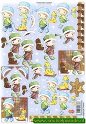 Card Deco knipvel winter CD10088 (Locatie: 5738)