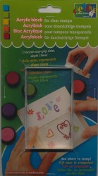 Clear stamp acrylic block 18x60x100mm 36053-03 (Locatie: 4RR12 )