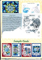 Doodey kaartenpakket om 4 kerstkaarten te maken ZV90176 (Locatie: 6735)