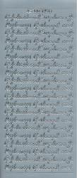 Doodey stickervel diploma/rijbewijs/geslaagd zilver DD1451 (Locatie: L239)