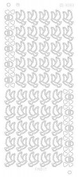 Find It stickervel glanzend zilver huwelijk CD3083 (Locatie: u102)