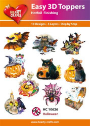 Hearty Crafts Easy 3D Toppers Halloween HC10626 (Locatie: K2)