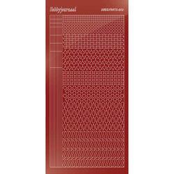 Hobbydots stickervel glanzend rood STDM134 (Locatie: H396 )