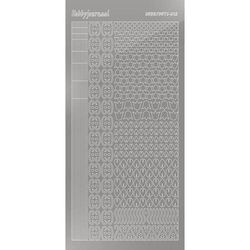 Hobbydots stickervel glanzend zilver STDM128 (Locatie: N265 )