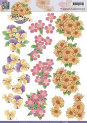 Jeanine's Art knipvel bloemen CD10466 (Locatie: 2936)