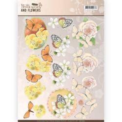 Jeanine's Art knipvel bloemen en vlinders CD11001 (Locatie: 2425)